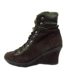 ホーキンス Hawkins ブーティ ショート ブーツ シューズ 靴 レースアップ ダー スエード 23.5cm 茶 レディース♪4