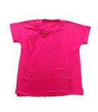 ケイトスペード KATE SPADE リボン Tシャツ カットソー 無地 ストレッチ スリット S ピンク レディース♪4※