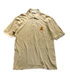 バーバリーズ Burberrys エンブレム 刺繍 ポロシャツ カットソー 鹿の子 ロゴ オールド ビンテージ S 茶 ブラウン メンズ▼▼4※