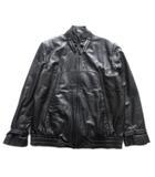 ピエールカルダン Pierre Cardin 70's レザー ライダース ジャケット ブルゾン シングル オールド ビンテージ 黒 ブラック メンズ