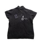 ブラック&ホワイト BLACK&WHITE ロゴ 刺繍 ポロシャツ カットソー アニマル スウェット ハーフジップ 1 黒 レディース♪4