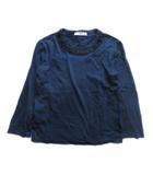 ビジュー Tシャツ カットソー 長袖 ビーズ リボン ダメージ加工 色抜け XS レディース♪4※