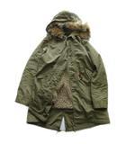 ミラーオブシンゾーン MIRROR OF Shinzone モッズ コート ジャケット ブルゾン 中綿ボアライナー フード コヨーテファー ミリタリー 38 オリーブ 緑 レディース▼5