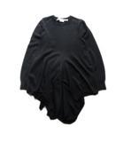 コムデギャルソン COMME des GARCONS ドレープ ニット セーター チュニック 無地 変形 ウール100% M 黒 ブラック レディース