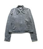 ダナキャランニューヨーク DKNY 90's ニット ジャケット ブルゾン セーター ステンカラー ウール オールド ビンテージ S グレー レディース♪5