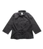 アニエスベー agnes b. ショート コート シャツ ジャケット ブルゾン 40 黒 ブラック レディース▼5