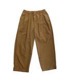 クーティー COOTIE T/W 2 Tuck Easy Pants ワイド アンクル パンツ スラックス イージー ポリ ウール クロップド ロゴ S 茶 ブラウン メンズ