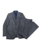 スーツ セットアップ テーラード ジャケット パンツ スラックス 背抜き シャドーストライプ ビジネス M グレー メンズ●9