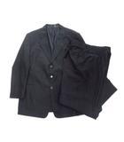 スーツ セットアップ テーラード ジャケット パンツ スラックス ストライプ ウール 大きいサイズ 60 黒 ブラック メンズ●9※