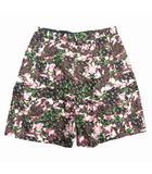 ジバンシィ GIVENCHY 花柄 ワイド ショート ハーフ パンツ ショーツ パッチワーク タック 46 黒 ブラック ピンク 緑 メンズ