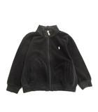 パイル ジャケット ブルゾン ロゴ ポニー 刺繍 100 黒 ブラック キッズ 子供 ジュニア♪10※