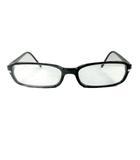 プラダ PRADA スクエア メガネ サングラス 眼鏡 ロゴ 刻印 セル 黒 ブラック シルバー メンズ レディース●10