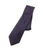 クリッツィアウォモ KRIZIAUOMO 総柄 ネクタイ ビジネス シルク100% スーツ ネイビー×マルチ メンズ