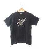 アベイシングエイプ A BATHING APE BAPESTA TEE S/S 半袖 Tシャツ M 黒ブラック ブランド古着ベクトル 中古190404 0008