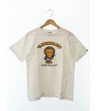アベイシングエイプ A BATHING APE APE SHALL NEVER KILL APE BABY MILO S/S TEE ベビーマイロ  半袖 Tシャツ M 白ホワイト ブランド古着ベクトル 中古190408 0005