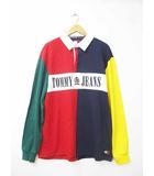トミーヒルフィガー TOMMY HILFIGER Tommy Jeans トミージーンズ 17AW 90s COLORBLOCK RUGBY SHIRT ラガーシャツ Lマルチ ブランド古着ベクトル 中古181030 0080