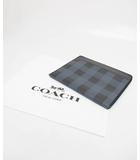 コーチ COACH タブレット PCケース レザー クラッチ バッグ ブラック×ブルー ブランド古着ベクトル 中古●190301 0030