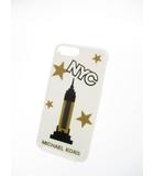 マイケルコース MICHAEL KORS 未使用 ニューヨーク iPhone7 Plus ケース 白ホワイト ブランド古着ベクトル 中古●▲ 190320 0008