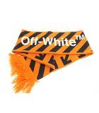 オフホワイト OFF WHITE 17AW DIAG ARROWS SCARF バイアス アロー マフラー ストール オレンジ ブランド古着ベクトル 中古☆AA★▲190415 0050