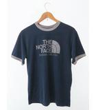 ザノースフェイス THE NORTH FACE 未使用 Heather Ringer Tee LOGO S/S ロゴ プリント 半袖 Tシャツ M ネイビー ブランド古着ベクトル 中古190404 0004