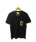 マルタンマルジェラ Martin Margiela 10 S/S Leather Pocket T-Shirt レザー ポケット半袖Tシャツ 46黒ブラック ブランド古着ベクトル 中古☆AA★190529 0035