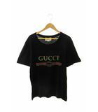 グッチ GUCCI vintage logo T-shirt ヴィンテージ ロゴ半袖Tシャツ S黒ブラック ブランド古着ベクトル 中古■☆AA★190518 0100