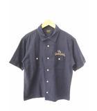 テンダーロイン TENDERLOIN T-BOWLS SHT SHORT ロゴ 刺繍 ボーリング 半袖 シャツ XS 紺ネイビー ブランド古着ベクトル 中古 190720 0030