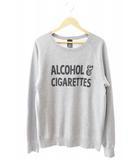 ナンバーナイン NUMBER (N)INE ALCOHOL&CIGARETTES 酒 タバコ スウェット 2 グレー ブランド古着ベクトル 中古 190728 0010