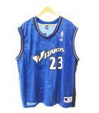 チャンピオン CHAMPION NBA WIZARDS JORDAN 23 バスケ タンクトップ ゲーム シャツ L ブルー ブランド古着ベクトル 中古190805 0010
