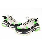 バレンシアガ BALENCIAGA Triple S Sneaker 536737 トリプル S 42 黒 白 ネオン グリーン ブランド古着ベクトル 中古▲■☆AA★200119 0350