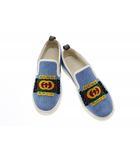 グッチ GUCCI Denim Canvas Loafers Slip-on Sneakers Flats デニム キャンバス ローファー スリッポン スニーカー 548644 7.5 ホワイト ブルー ブランド古着ベクトル 中古191206 0080