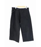 アクネ ストゥディオズ Acne Studios 19SS Wide-legged trousers ワイド レッグ トラウザーズ パンツ TROU000059 44黒ブラック ブランド古着ベクトル 中古191113 0100