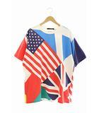 ルイヴィトン LOUIS VUITTON 19AW フラッグス パッチワーク プリンテッド 半袖 Tシャツ RM192 NPG HHY81W L マルチカラー ブランド古着ベクトル 中古 200615 0200
