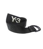 ワイスリー Y-3 19SS LOGO BELT ロゴ リング ベルト DY0523 M 125cm 黒 ブラック ブランド古着ベクトル 中古 ▲ 200926 0020