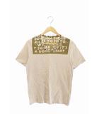 15SS AIDS エイズ プリント 半袖 Tシャツ Vネック S ベージュ ブランド古着ベクトル 中古 210428 0008