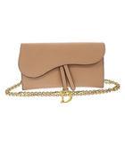 ディオール Dior saddle wallet chain bag サドル ウォレット チェーン ショルダー バッグ 二つ折り 長財布 S5614CWVG ピンク ブランド古着ベクトル 中古 ▲■ 210505 0500