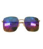 Sunglasses Gucci Logo GG ロゴ レインボー ミラーレンズ サングラス GG0802S-004 マルチカラー ブランド古着ベクトル 中古 ☆AA★ ▲■ 210521 0170
