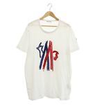 モンクレール MONCLER 17SS GRENOBL MAGLIA T-SHIRT ロゴ 刺繍 半袖 Tシャツ C10918035050 8390T XL 白 ホワイト ブランド古着ベクトル 中古 210701/103