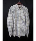 ティンバーランド Timberland Timberland ティンバーランド チェック柄 ロゴ 刺繍 長袖 BD ボタンダウン シャツ XL ブルー系