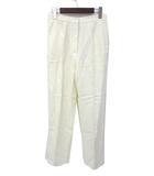 マックスマーラ MAX MARA 未使用 MAX MARA マックスマーラ センタープレス スラックス リネン パンツ 40 ホワイト