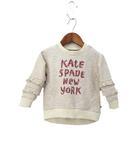 ケイトスペード KATE SPADE 未使用 子供服 KATE SPADE NEW YORK skirt the rules ケイトスペード ニューヨーク 霜降り ロゴ 長袖 ティアードフリル スウェット トレーナー 90 ベージュ系