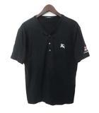 バーバリーブラックレーベル BURBERRY BLACK LABEL BURBERRY BLACK LABEL バーバリーブラックレーベル ホース プリント ヘンリーネック 半袖 Tシャツ カットソー 3 ブラック