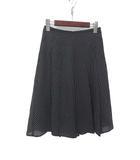 イネド INED INED イネド ドット柄 プリーツ スカート 7 ブラック