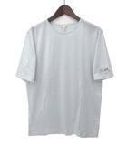 エルメス HERMES HERMES エルメス 馬車 ホース 刺繍 デザイン クルーネック 半袖 Tシャツ カットソー M ライトブルー