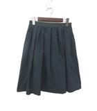 イネド INED INED イネド シンプル グログランテープ フレア スカート 9 グリーン