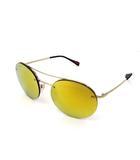 プラダ PRADA 美品 PRADA プラダ SPS54R ZVN-5NO ミラーレンズ サングラス メガネ 眼鏡 シルバーカラー