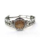 エルメス HERMES HERMES エルメス CL4.210 クリッパー SS デイト クォ―ツ 腕時計 ピンク文字盤