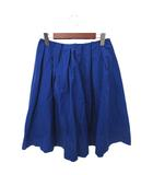 マルティニーク martinique martinique マルティニーク シンプル タック ひざ丈 フレア スカート 1 ブルー