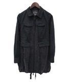 ディーゼル DIESEL DIESEL Dress and Impress ディーゼル ドレスアンドインプレス ジップアップ 薄手 モッズ コート XS ブラック
