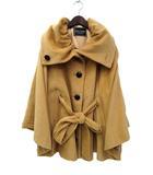 セシルマクビー CECIL McBEE CECIL McBEE セシルマクビー シングル リボン 起毛 ポンチョ デザイン コート M ベージュ系